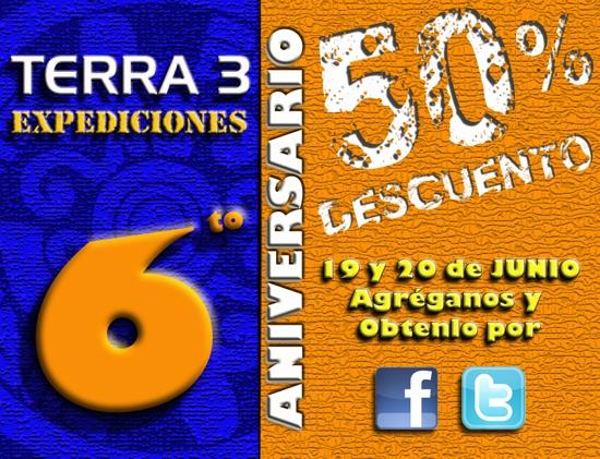Aniversario Terra 3, Turismo, promociones